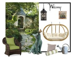 """""""My garden's corner!"""" by colchico ❤ liked on Polyvore featuring interior, interiors, interior design, home, home decor, interior decorating, ELK Lighting, Pottery Barn, Amazonas and Fresh American"""