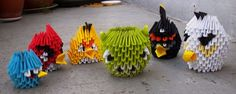 Angry Birds - 3D Origami by SophieEkard