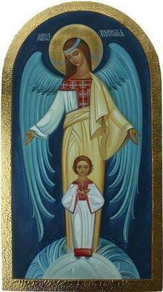 Religious Images, Religious Icons, Religious Art, Religion, Christian Artwork, Religious Paintings, Ukrainian Art, Catholic Art, Guardian Angels