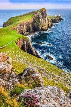 Neist Point lighthouse, Isle of Skye Scotland