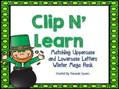 This St. Patrick's Day themed product combines 4 Literacy Stations into 1. It also allows you to integrate it into RTI stations, Daily 5, morning work, Literacy Stations, and cooperative learning centers. The following resources are included: Clip N' Learn: Matching Letters (Set #1) 26 lowercase cards 26 uppercase cards Focus: Visual Discrimination - Find the letter