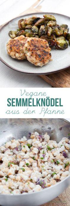 Vegane Pfannensemmelknödel | VeganmitGenuss.com