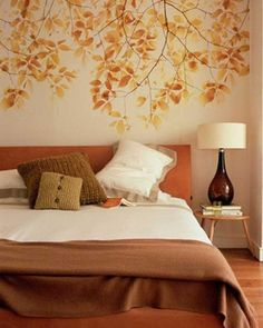 cozy and inspiring bedroom decorating ideas in fall colors