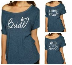 Bride T-Shirt, Bridesmaid Shirt, Maid of Honor Shirt, Sweatshirt. Wedding, Bachelorette Party. Mrs Sweatshirt