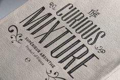 Curious Mixture Absinthe. Lost Type's Tommaso