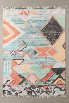 Bina Printed Chenille Rug | Urban Outfitters