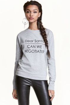 Dear santa can we negotiate H&m Online, Dear Santa, Couture, Fashion Online, Kids Fashion, Graphic Sweatshirt, Sweatshirts, Long Sleeve, Fabric