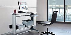 Ergonomía y versatilidad se combinan para ofrecer una amplia gama de programas de mobiliario informático, tanto para la oficina como para el equipamiento del hogar en espacios de estudio.