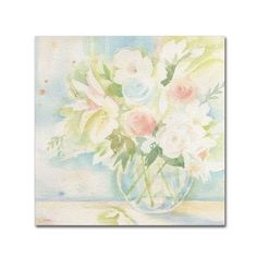 """Trademark Art 'Early June Bouquet' by Sheila Golden Painting Print on Wrapped Canvas Size: 24"""" H x 24"""" W x 2"""" D"""