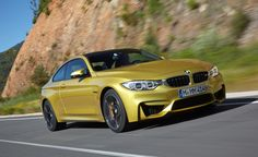 BMW M4 - Its engine has been built specifically for the New M4/M3, displacing 3.0 L (180 cu in) and redlining at 7,500 rpm. The rev limiter coming in at 7,600rpm. The engine uses two mono-scroll turbochargers with boost peaking at 18.1 PSI. The power is rated at 425 hp (317 kW; 431 PS) while torque will be 550 N·m (410 lb·ft). The weight of the 6 speed manual M4 is 3,556 lb (1,613 kg), with the M-DCT some 88 lb (40 kg) heavier. Both 6-speed manual and 7-speed M-DCT transmissions are…