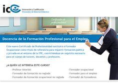 El título de Formador Ocupacional será sustituido por Docencia de la Formación Profesional para el Empleo