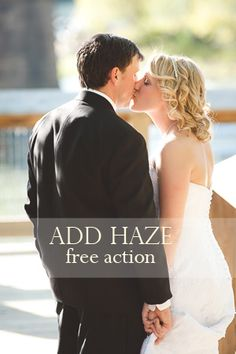 Free action for Photoshop and PSE that adds a variety of hazes via @amandapadgett