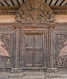 Nyatapola Temple, Nepal, Bhaktapur - The temple is dedicated to the Tantric Goddess Siddhi Lakshmi, 1702. Newari style architecture.
