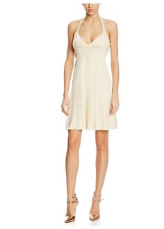 VERSACE Beige Halter Dress with Rhinestone Adomments - on #sale 72% off @ #Ideel  #Versace