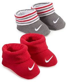 Nike Baby Socks, Baby Boys 2-Pack Booties - Kids Baby Boy (0-24 months) - Macy's