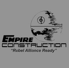 Empire Construction T-shirt Star Wars 4 Colors S-3XL