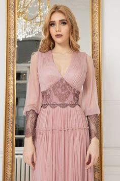 A flowing silhouette Summer Bridesmaid Dresses, Wedding Dresses, Tea Length Dresses, Bishop Sleeve, Chantilly Lace, Pageant Dresses, Different Fabrics, Special Occasion Dresses, A Line Skirts