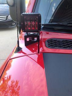 FJ Cruiser Front Cowl Light Brackets [PFJC-COWL-AUX-LIGHT-MOUNT] - $130.00 : Pure FJ Cruiser Accessories, Parts and Accessories for your Toyota FJ Cruiser
