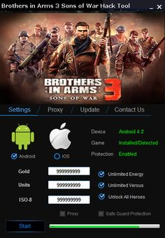 Brothers in Arms 3 Hack Cheats Tools Android iOs