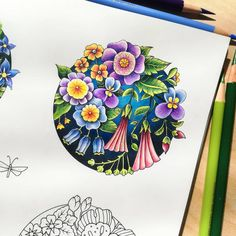 Free Coloring, Adult Coloring, Magical Jungle Johanna Basford, Joanna Basford, Caran D'ache, Johanna Basford Coloring Book, Faber Castell, Coloring Book Pages, Prismacolor