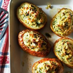 Soufflé Baked Potatoes with Cheddar - Healthy & Easy Recipes