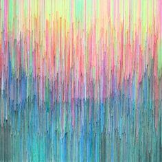 beautiful modern colorful pen on canvas art