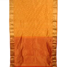 Handwoven Yellow Kanjivaram Silk Saree With Floral Motifs 10013825 - fullview - AVISHYA.COM