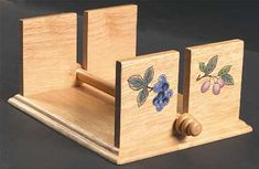 wood napkin | Wooden Napkin Holder