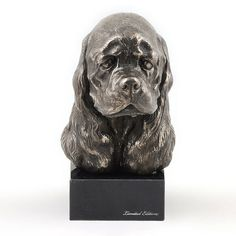 American Cocker Spaniel dog marble statue by ArtDogshopcenter