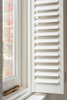 Stylish modern shutters to fit the length of your window. Our range of full height shutters are one of our most sought-after styles. Outdoor Shutters, Wooden Shutters, Window Shutters, Shaped Windows, Tall Windows, Bathroom Windows, Neutral Paint, Window Dressings, Wet Rooms