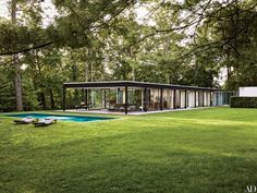 GQ design director Fred Woodward and his wife, Janice, restored a midcentury glass-and-steel house outside of New York City that was built by Roy O. Allen, a partner at Skidmore, Owings & Merrill, in 1957.