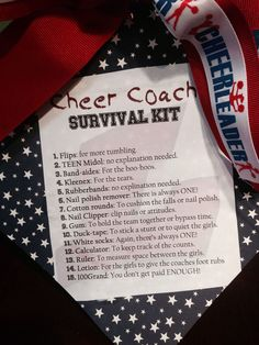 Cheer Coach Survival Kit Gift.
