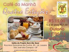 Café da Manhã Bem Me Quer - São José dos Campos-SP - http://www.agendaespiritabrasil.com.br/2016/05/01/cafe-da-manha-bem-me-quer-sao-jose-dos-campos-sp/