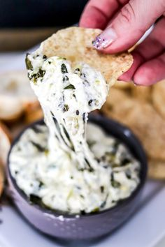 Making Spinach Artichoke Dip in the Instant Pot couldn't be easier or more delicious! It's ultra creamy, cheesy, and delicious! This will be an appetizer staple! Spinach Artichoke Dip, Spinach Dip, Good Food, Yummy Food, Fun Food, Yummy Yummy, Frozen Spinach, Party Food And Drinks, Cooking Together