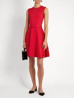 Lace-insert sleeveless mini dress | Giambattista Valli | MATCHESFASHION.COM