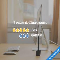 Focused Classroom - Essential Oil Diffuser Blend