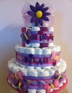 BABY BUTTERFLIES DIAPERCAKE FOR TWINS