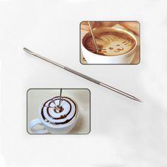 Flor Pin Stipa lujo DIY aguja guirnalda de café del acero inoxidable tallado del arte de la pluma en   de   en AliExpress.com | Alibaba Group