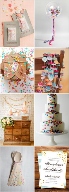 Nothing says celebration like confetti! And your wedding day is one major celebration. If you want to up the fun factor (and add a blatant pop of colour!), incorporate some confetti inspired details in to your day...