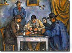 Paul Cezanne Card Players painting is shipped worldwide,including stretched canvas and framed art.This Paul Cezanne Card Players painting is available at custom size. Cezanne Art, Paul Cezanne Paintings, Cubist Paintings, Modern Paintings, European Paintings, Impressionist Paintings, Impressionism Art, Canvas Paintings, Henri Matisse