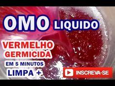 Omo Liquido Vermelho Germicida e Bactericida em 5 minutos - YouTube