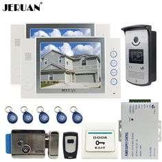 JERUAN 8`` LCD video door phone doorbell intercom system access control system 700TVL COMS Camera video recording   E-LOCK ** AliExpress Affiliate's buyable pin. Click the VISIT button to find out more on www.aliexpress.com