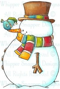 Scratch My Nose - Snowmen Images - Snowmen - Rubber Stamps