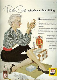 Love the stylish women Pepsi holiday ad campaign of the 50's