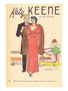 loved reading my cousin's cast-off Katy Keene comics when I was little! Nice poster. Archie Comics Retro: Katy Keene Pin-Up (Aged) from  AllPosters.de