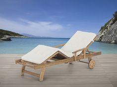Garden Furniture - Sun Lounger - Java - Cushion - Wooden