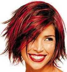 Red Highlights in Dark Brown Hair Women Tips WomennBeauty.Com