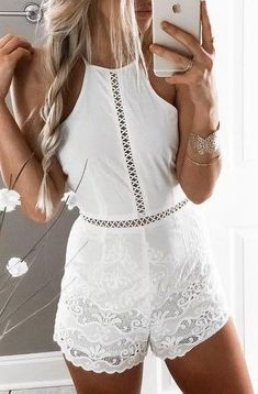 e3890281869 15+ Ways To Stay Casual or Cool Ideas to Improve Your Style White Romper  Outfit