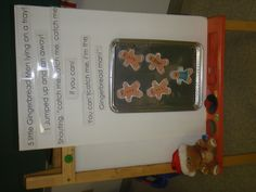 """Five Little Gingerbread Men"" Fingerplay/Poem (Using Cookie Sheet )"