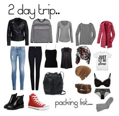 """""""2 day trip packing list for me"""" by heytherecarolin on Polyvore featuring Giorgio Armani, STELLA McCARTNEY, maurices, T By Alexander Wang, J.Crew, Joseph, Converse, WithChic, H&M and Sisters Point"""